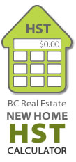 BC Real Estate New Home HST Calculator